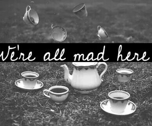 alice in wonderland and mad image