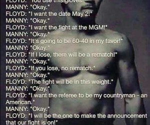 fighting, mayweather, and pacquiao image