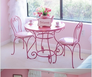 pink, room, and princess pink image