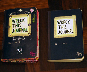 wreck this journal, journal, and book image