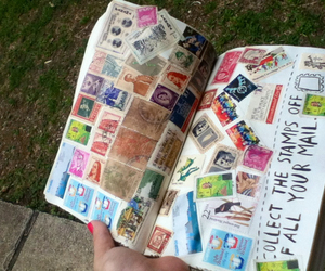 stamps, wreck this journal, and all around the world image