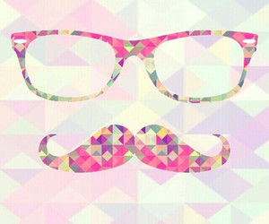 mustache, wallpaper, and hipster image