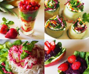 fitness, healthy eating, and raw food image