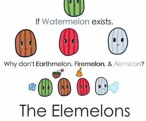 watermelon, funny, and elemelons image