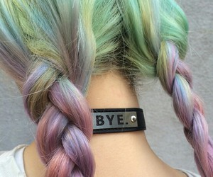colored hair, grunge, and colorful image