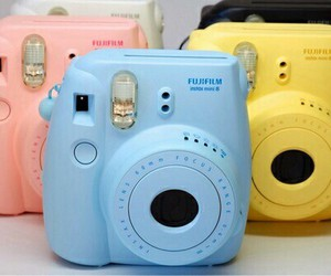 blue, camera, and yellow image