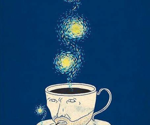 van gogh, art, and coffee image