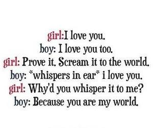 love, boy, and world image
