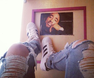 2pac, adidas, and tupac image
