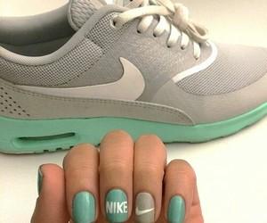 nike, nails, and grey image