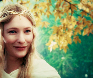 cate blanchett, elf, and lord of the rings image