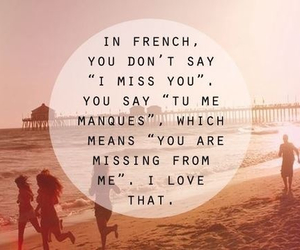 love, quote, and french image