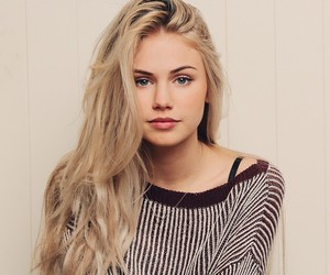 girl, pretty, and blonde image