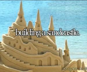 sandcastle, to do list, and bucketlist image