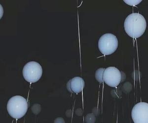balloons, grunge, and dark image