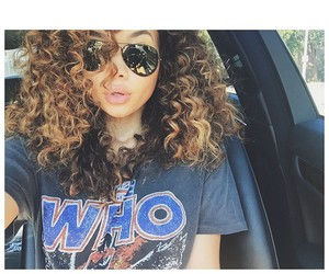 black girl, curly hair, and car image
