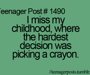 childhood, teenager post, and crayon image