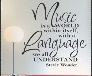 music, language, and quote image