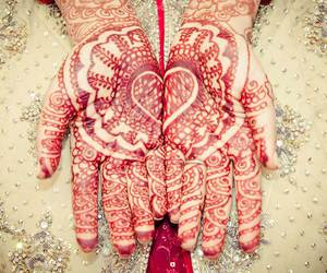 love, heart, and henna image