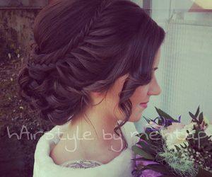 hair, wedding, and haïr image