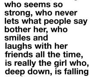 girl, quote, and sad image