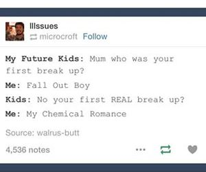 fall out boy, my chemical romance, and my life image