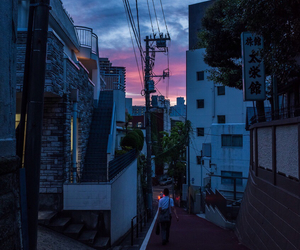 sky, city, and japan image