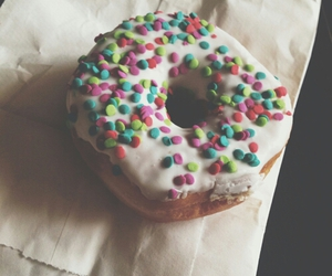 food, donut, and hipster image