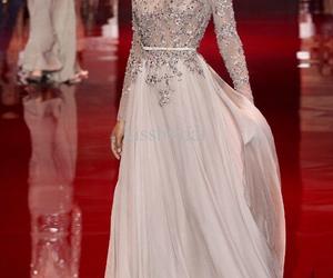 dress, elie saab, and model image
