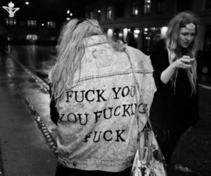 fuck, girl, and jacket image