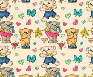 wallpaper, bear, and background image