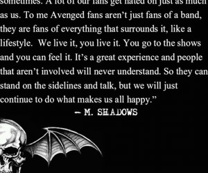 a7x, avenged sevenfold, and quote image