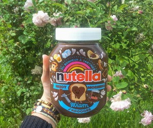 chocolate, flowers, and nutella image