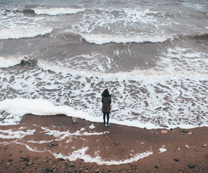 girl, oceans, and sea image