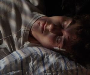 sleeping and stuck in love image