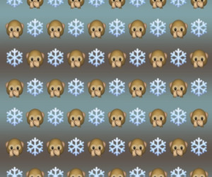 monkey, snowflake, and wallpapers image