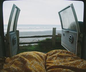sea, car, and travel image