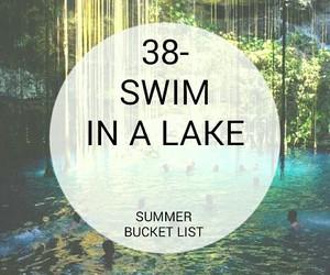 lake, swim, and bucket list image