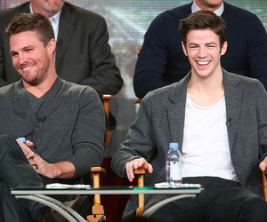 arrow, barry allen, and oliver queen image