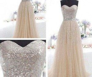 dress, white, and glitter image