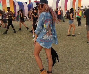 coachella, hair, and outfit image