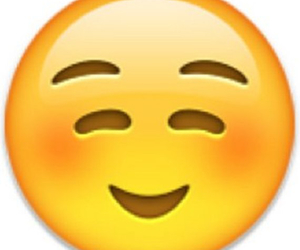 emojis, cute, and blushing emoji image