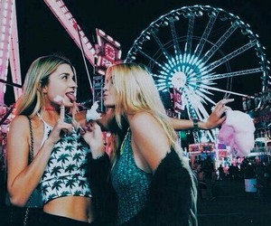 friends, girl, and fun image