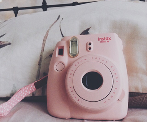 baby pink, cameras, and girly image
