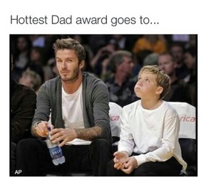 beckham, dad, and Hot image