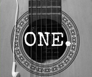 one, guitar, and music image