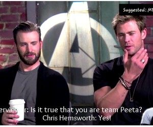Avengers, chris evans, and interview image