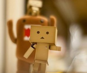 danbo, robot, and love image