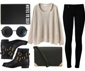 outfit, bag, and style image