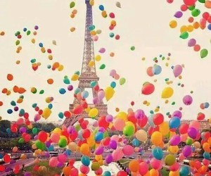 balloons, paris, and colorful image